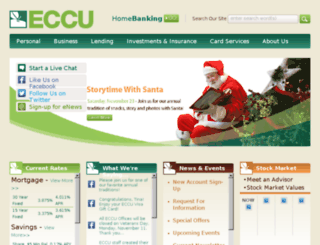 homebanking.eccu1.org screenshot