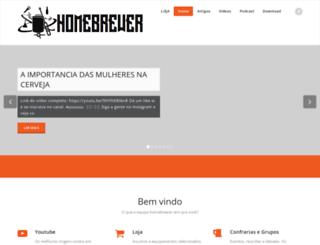 homebrewer.com.br screenshot