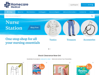 homecaremedicalsupplies.ie screenshot