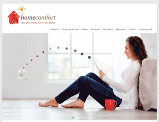 homecomfort.co.za screenshot