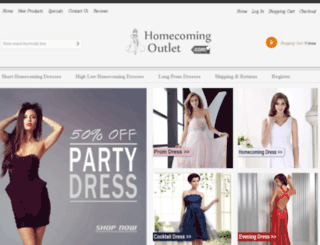 homecomingoutlet.com screenshot