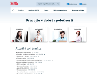 homecredit.jobs.cz screenshot