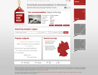 homeforrent.de screenshot