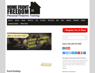 homefrontfreedom.com screenshot