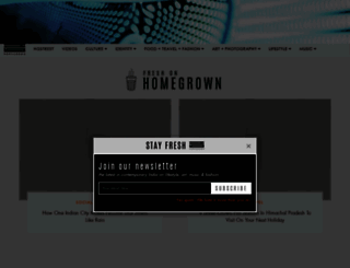 homegrown.co.in screenshot