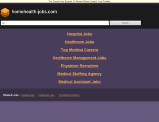 homehealth-jobs.com screenshot