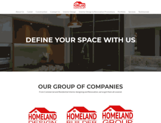 homelanddesign.com.sg screenshot
