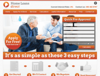 homeloansdirect.co.za screenshot