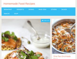 homemadefoodrecipes.com screenshot