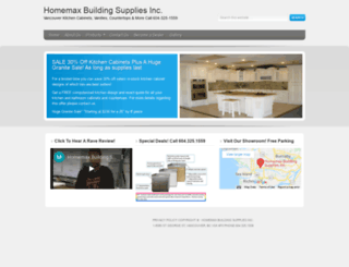 homemaxbuildingsupplies.com screenshot