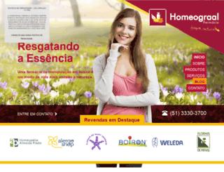 homeograal.com.br screenshot