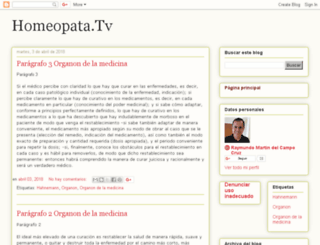 homeopata.tv screenshot