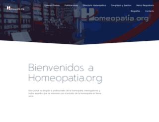homeopatia.org screenshot