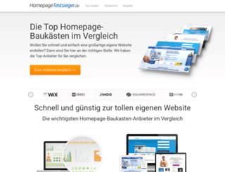 homepagetestsieger.de screenshot