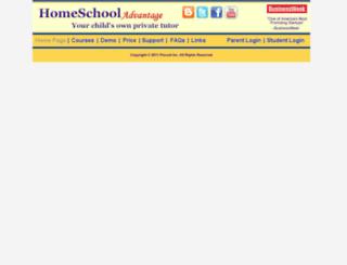 homeschooladvantage.com screenshot