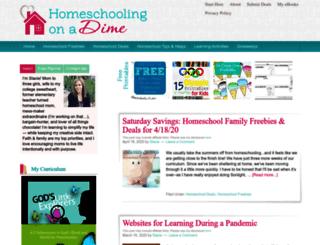 homeschoolingonadime.com screenshot
