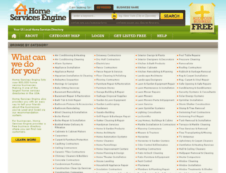 homeservicesengine.com screenshot