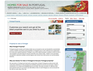 homesforsaleinportugal.com screenshot