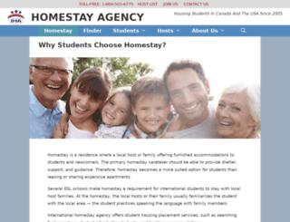 homestayagency.com screenshot