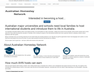 homestayhosting.com screenshot