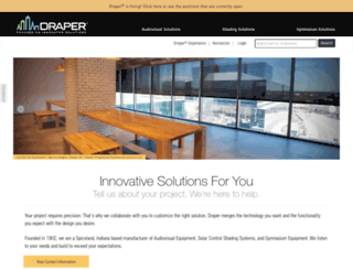 hometheater.draperinc.com screenshot