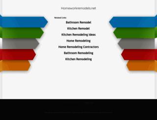 homeworkremodels.net screenshot
