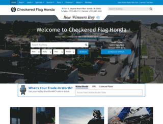 honda.checkeredflag.com screenshot