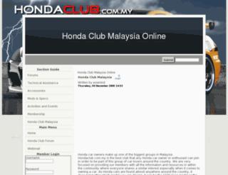 hondaclub.com.my screenshot