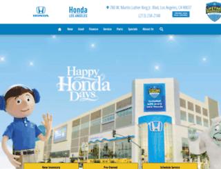 hondaoflosangeles.com screenshot