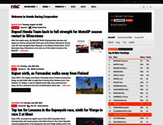 hondaracingcorporation.com screenshot