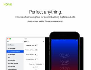 hone.tools screenshot