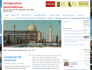 honeymoondestinations4u.com screenshot