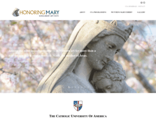 honoringmary.cua.edu screenshot