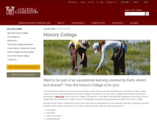 honors.cofc.edu screenshot
