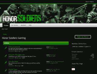 honorsoldiers.com screenshot