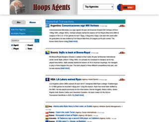hoopsagents.com screenshot