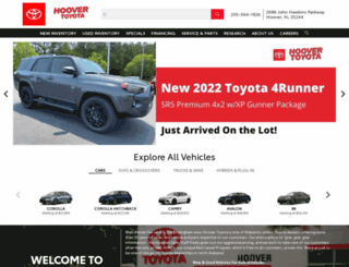 hoovertoyota.com screenshot