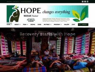 hope-rehab-center-thailand.com screenshot