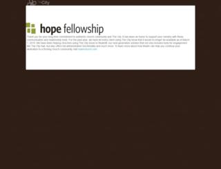 hopefellowship.onthecity.org screenshot