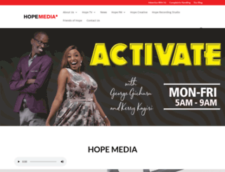 hopefm.org screenshot