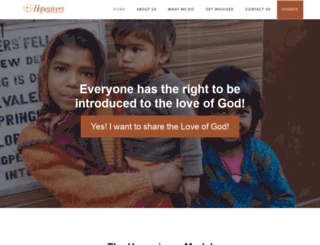 hopegivers.org screenshot