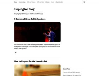 hopingfor.com screenshot