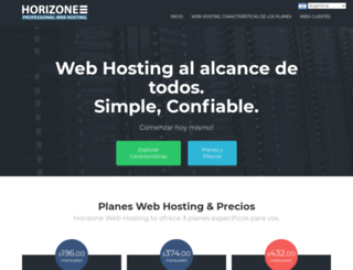 horizonewebhosting.com screenshot