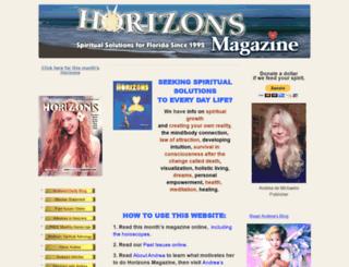 horizonsmagazine.com screenshot