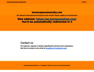 horoscopecommunity.com screenshot