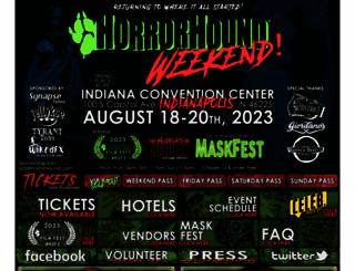 horrorhoundweekend.com screenshot