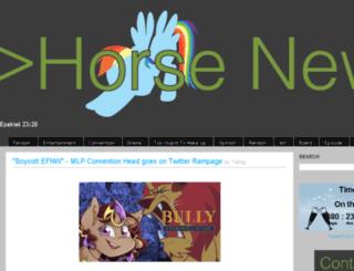 horse-news.net screenshot