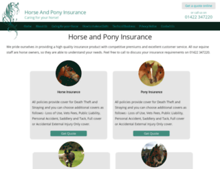 horseandponyinsurance.co.uk screenshot