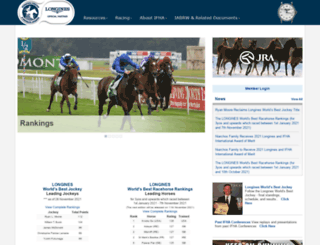 horseracingintfed.com screenshot
