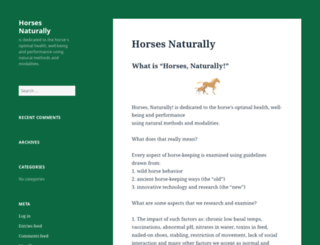 horsesnaturally.com screenshot